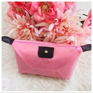 NWT Pink Travel Makeup Bag Cosmetic Pouch